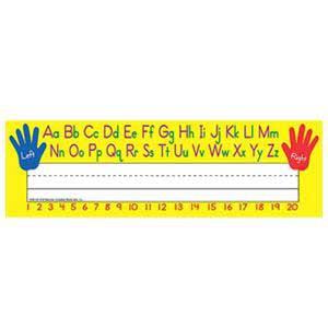 Left/Right Alphabet Nameplates