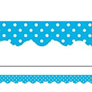 Turquoise Polka Dots Border