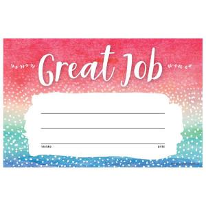 Watercolor Great Job Awards