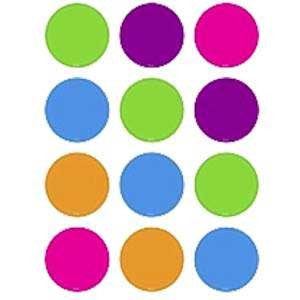 Bright Colors Circles Mini Cut-Outs