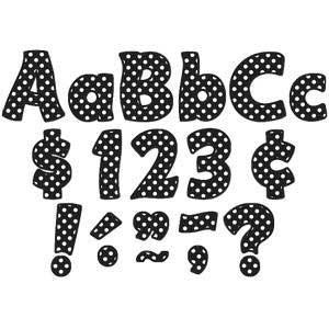 "Black Polka Dots 4"" Funtastic Letters Combo Pack"