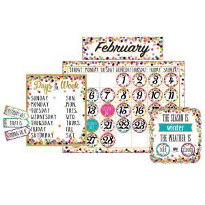 Confetti Calendar Bulletin Board