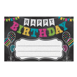 Chalkboard Brights Happy Birthday Awards