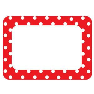 Red Polka Dots Nametags