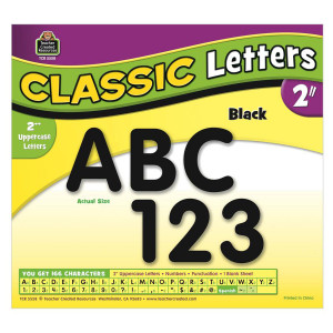 "Black Classic 2"" Uppercase Letters"