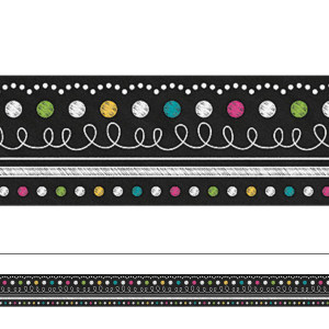 Chalkboard Brights Straight Border