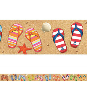 Summer Flip Flops Straight Border