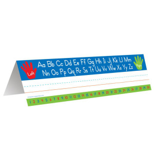 Left Right Alphabet Tent Nameplate