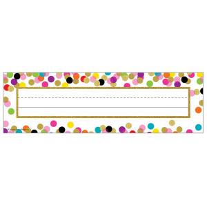 Confetti Nameplates