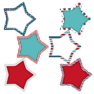 Patriotic Stars Cut-Outs