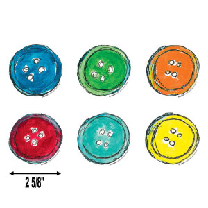 Pete the Cat Groovy Buttons Mini Cut-Outs