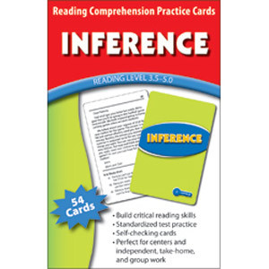 Inference Cards Reading Level 3.5-5.0