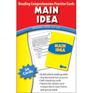 Main Idea Cards Reading Level 3.5-5.0