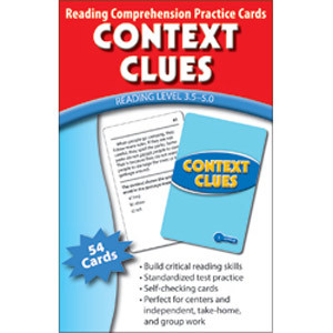 Context Clue Cards Reading Level 3.5-5.0