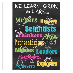 We Learn, Grow, And Are... Positive Poster