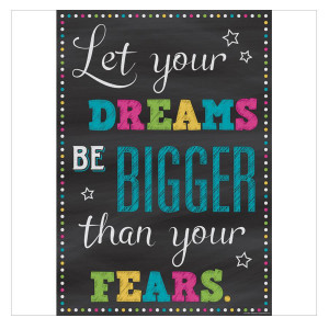 Let Dreams Be Bigger Than Fears Positive Poster