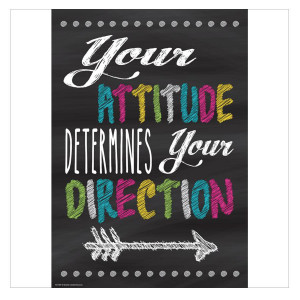 Your Attitude Your Direction Positive Poster