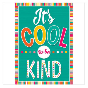Tropical Punch It's Cool Be Kind Positive Poster
