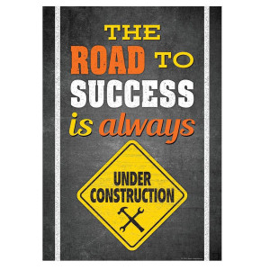 The Road to Success Construction Positive Poster