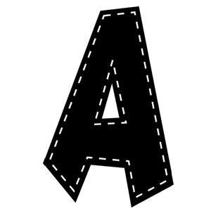 "Black 7"" Stitch Fun Font Letters"