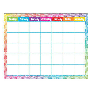 Colorful Scribble Calendar Poster