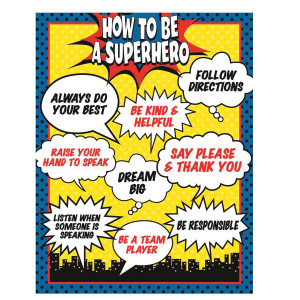 How to be a Superhero Poster
