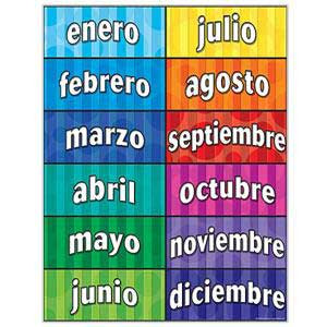 Months of the Year Spanish Poster