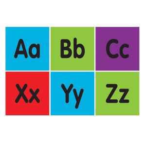 "Alphabet Squares Spot On Carpet Markers-4"""