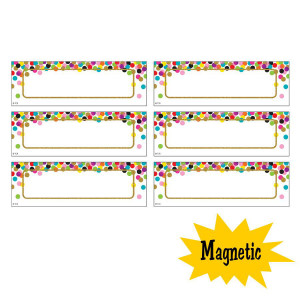 Confetti Magnetic Labels