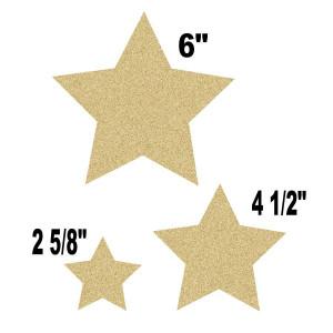 Gold Glitz Stars Assorted Cut-Outs