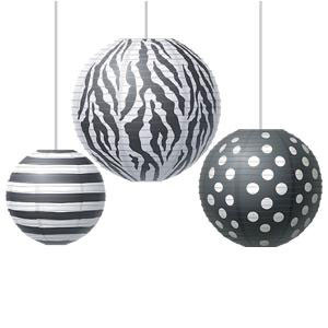Big, Bold, Black & White Lanterns