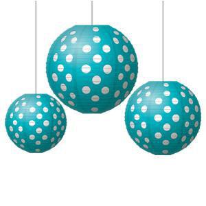 Teal Polka Dots Lanterns