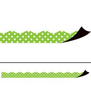 Lime Polka Dots Magnetic Border