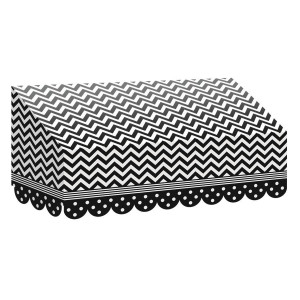 Black & White Chevrons and Dots Awning