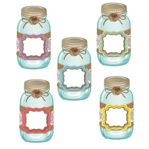 Shabby Chic Mason Jar Cut-Outs