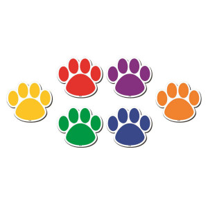 Paw Prints Colorful Magnetic Accents