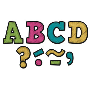 "Chalkboard Brights Bold Block 3"" Magnetic Letters"