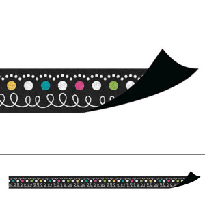 Chalkboard Brights Magnetic Border Strips