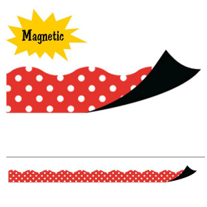 Red Polka Dot Magnetic Border