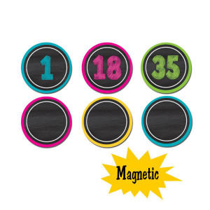 Chalkboard Brights Numbers Magnetic Accents
