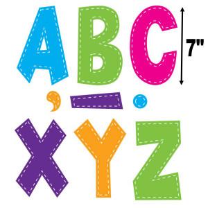 """Multi Bright Stitch 7"""" Fun Font Letters"""