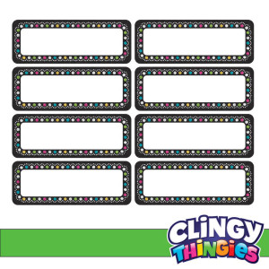 Chalkboard Brights Clingy Thingies Mini Labels