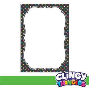 Chalkboard Brights Clingy Thingies Lg. Note Sheet