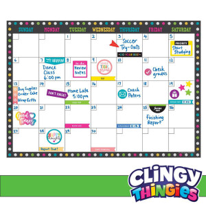 Chalkboard Brights Clingy Thingies Calendar Set