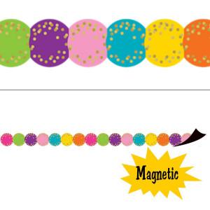 Confetti Circles Magnetic Border