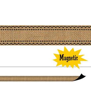 Burlap Magnetic Border