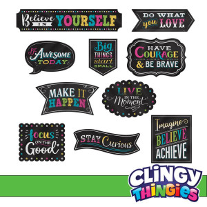 Chalkboard Bright Positive Sayings Clingy Thingies