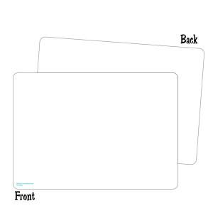 2-Sided Blank Dry Erase Board