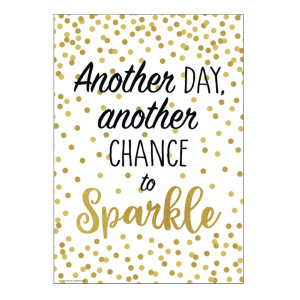 Another Chance to Sparkle Confetti Positive Poster