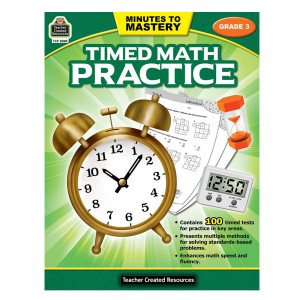 Timed Math Practice Book-Grade 3